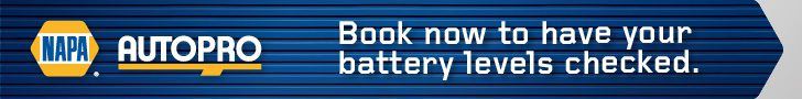 Book now to have your battery levels checked